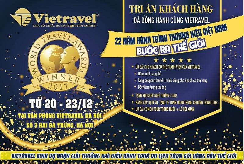 Chương trình tri ân khách hàng của Vietravel.
