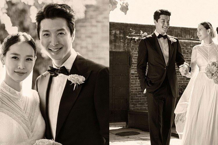 Hôn lễ của tài tử Lee Dong Gun cũng là một trong những hôn lễ được chú ý bậc nhất showbiz Hàn 2017. Lee Dong Gun và bà xã Jo Yoon Hee đi tới hôn nhân chỉ sau vài tháng hẹn hò.