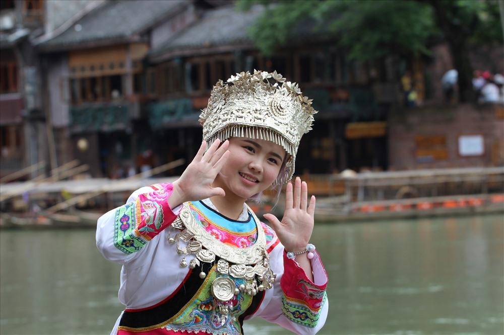 Thiếu nữ vùng Hồ Nam xinh đẹp.