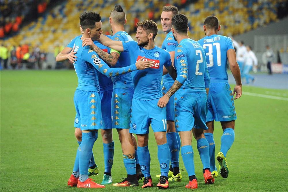 Napoli đang thất thế ở Champions League và Serie A. Ảnh: Footy.