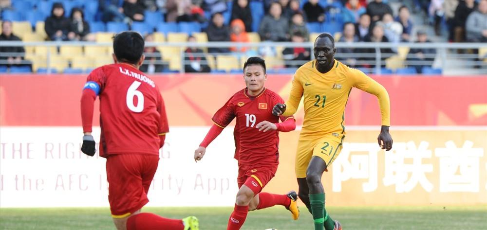 Quang Hải đã giúp U23 VN có chiến thắng đầu tiên tại VCK U23 Châu Á. Ảnh: AFC