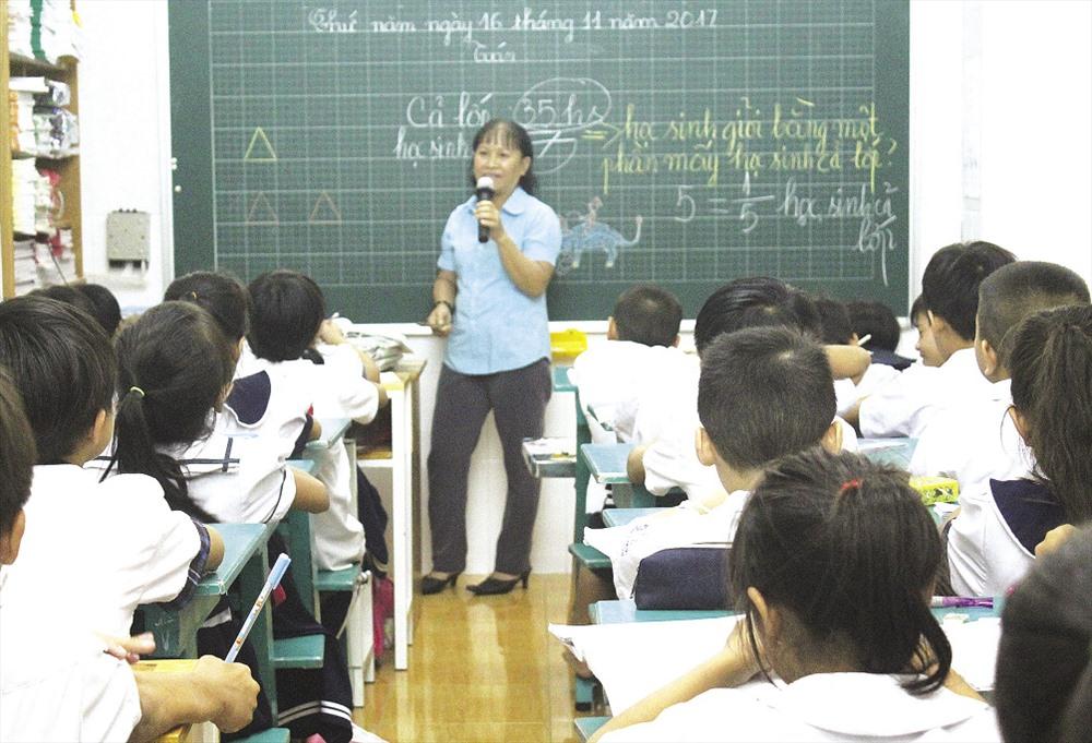 Lớp học của những trẻ em khó khăn tại TP.HCM.