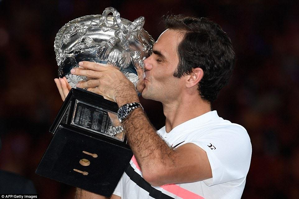 Federer làm nên lịch sử quần vợt với chiến thắng trước Marin Cilic. Ảnh Getty.