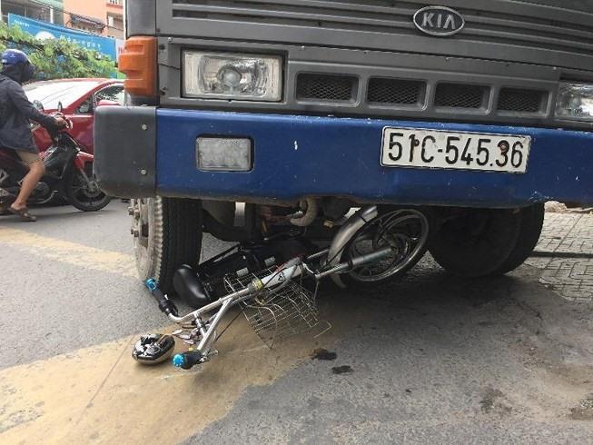 Hiện trường vụ tai nạn.(Ảnh: PLO)