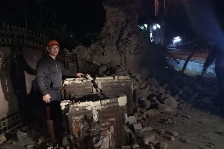 Thiệt hại sau trận động đất ở Đông Java, Indonesia ngày 11.10. Ảnh: BNPB