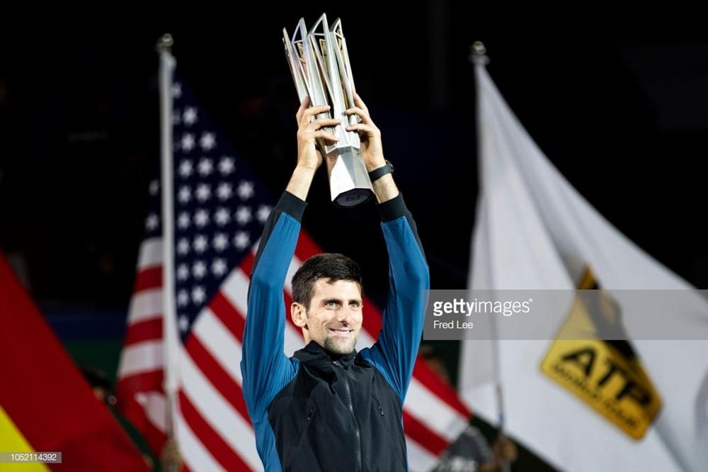 Chức vô địch Thượng Hải Masters lần thứ 4 của Nole. Ảnh: Getty.