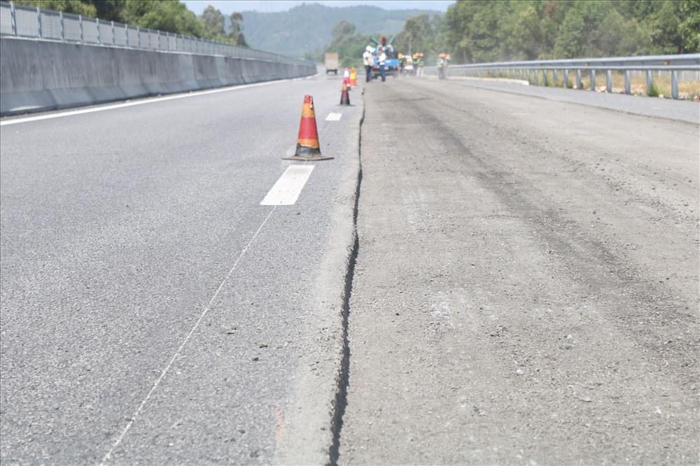Chiều dài của đoạn sửa chữa tại Km 26+600 đo được là 400m