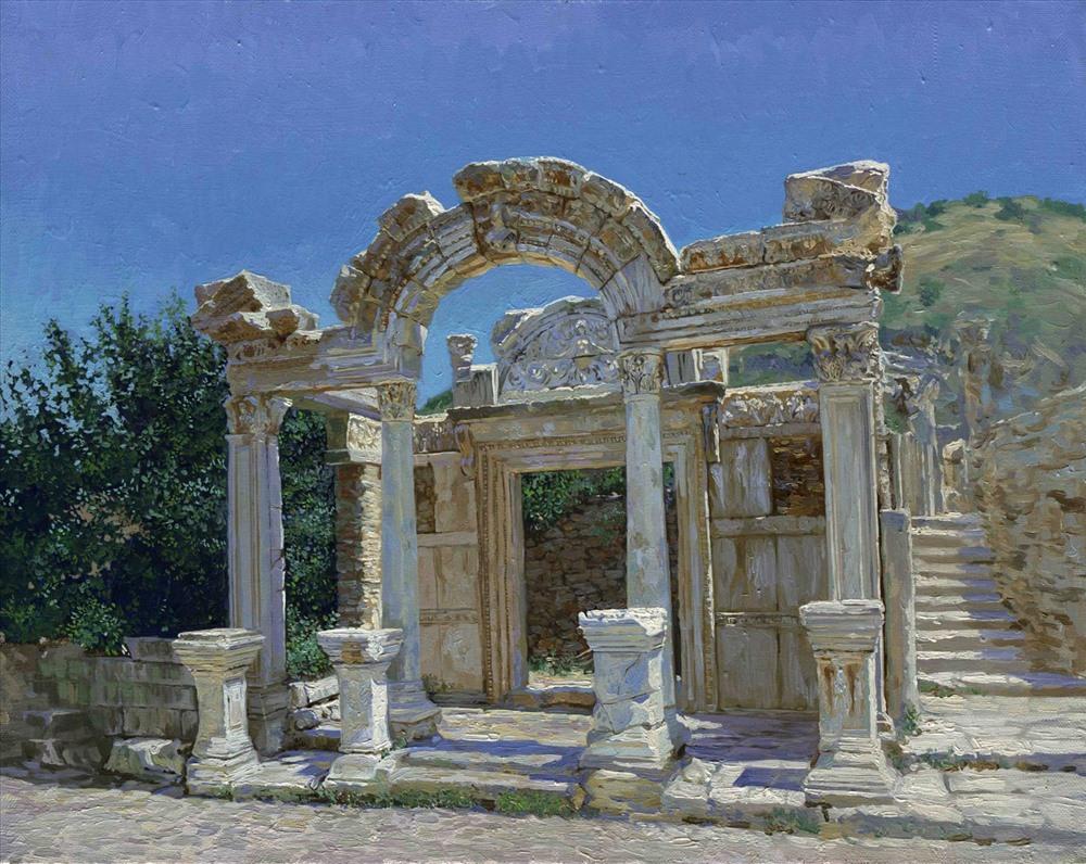 Đền Hadrian có từ thế kỷ thứ 2 sau CN