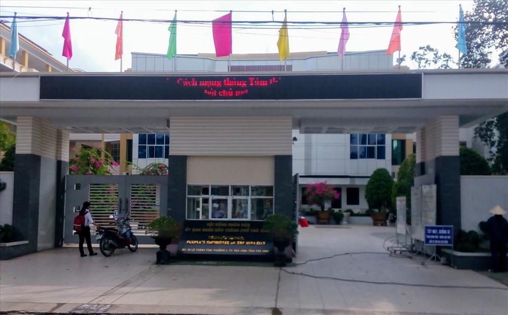 Trụ sở UBND TP.Trà Vinh (ảnh: P.V)