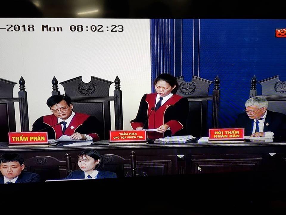 Chủ tọa phiên tòa.