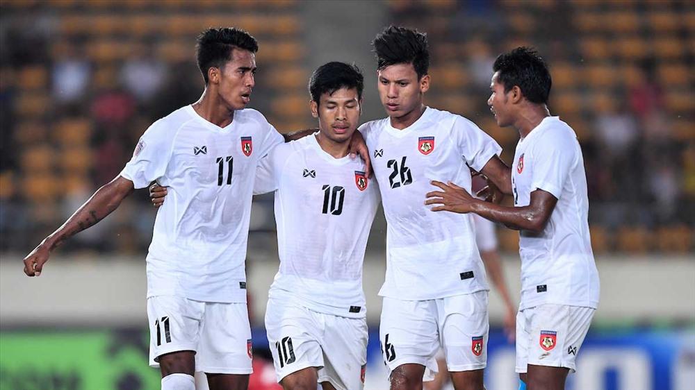 ĐT Myanmar đã có chiến thắng vất vả trước Lào (Ảnh: AFF)