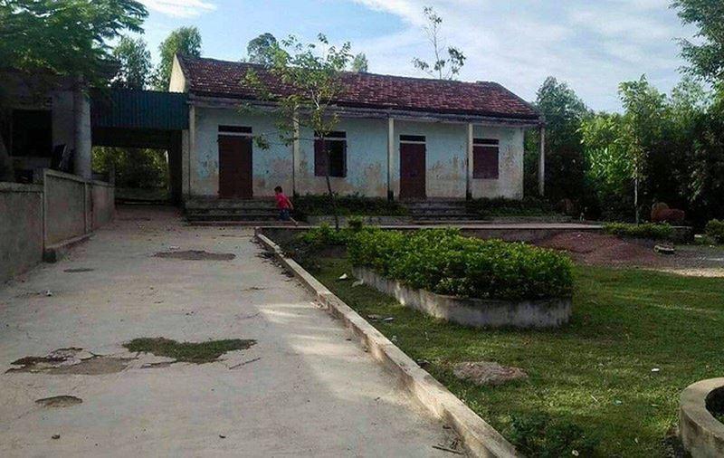 Điểm trường lẻ ở thôn Hòa Lạc.
