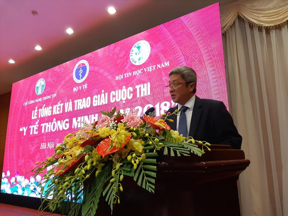 Thứ trưởng Bô Y tế Nguyễn Trường Sơn phát biểu tại buổi lễ. Ảnh: PV