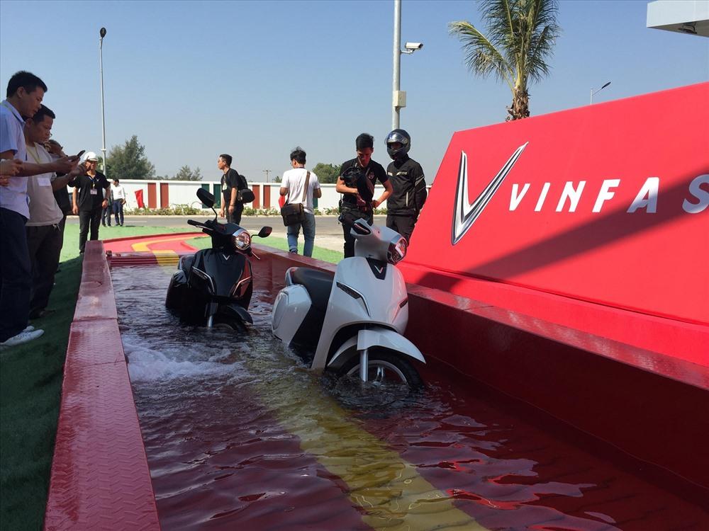 Xe đạp điện Vinfast có khả năng chịu được ngập nước