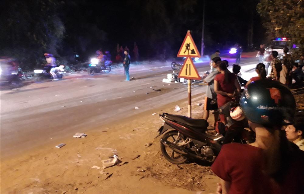 Hiện trường vụ tai nạn khiến hai người thương vong.