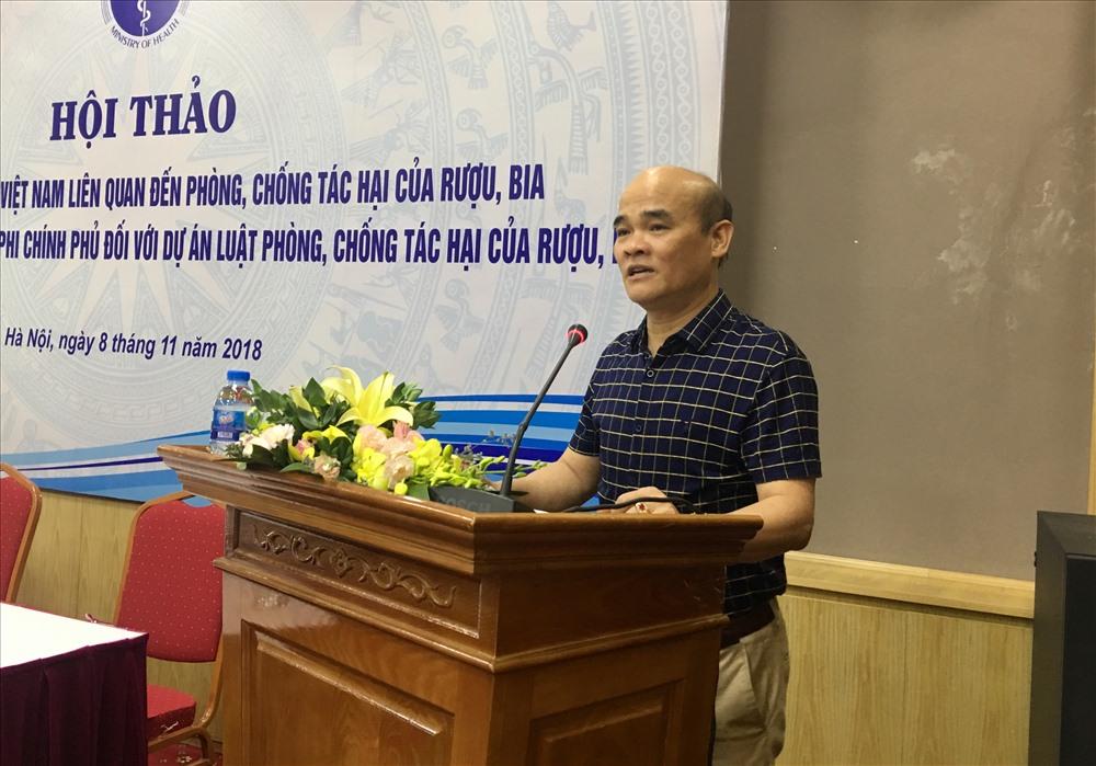Ông Nguyễn Huy Quang - Vụ trưởng Vụ Pháp chế, Bộ Y tế phát biểu khai mạc