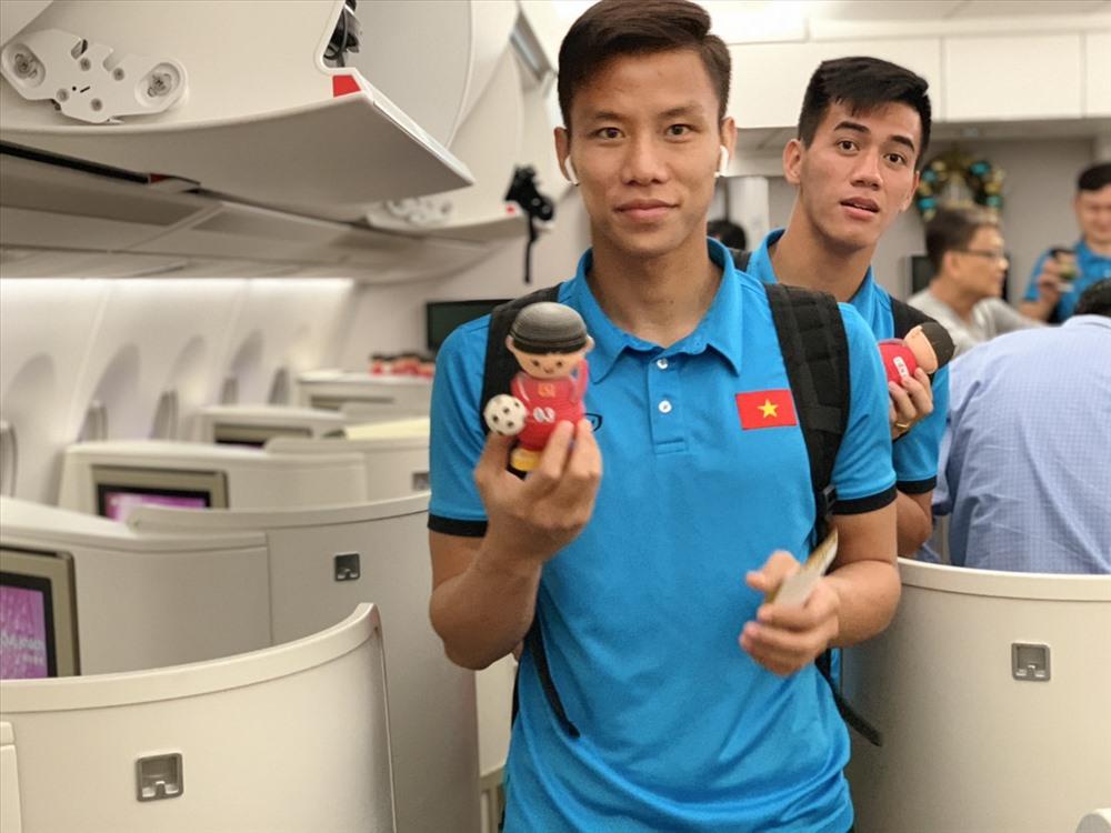 Tất cả tuyển thủ Việt Nam đều vui mừng trước sự quan tâm của hãng hàng không quốc gia Việt Nam.