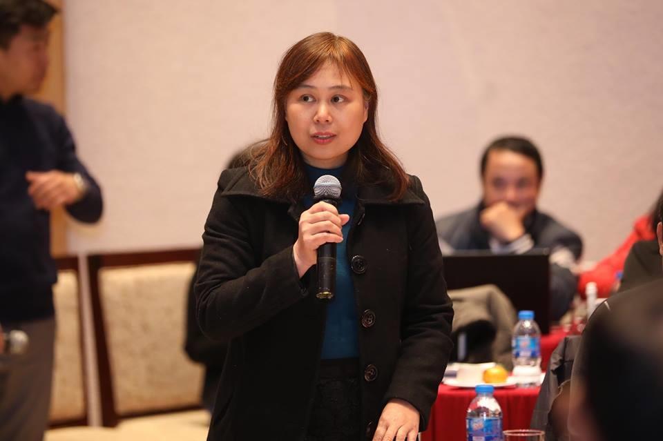 Bà Phạm Thị Thu Lan phát biểu tại buổi tọa đàm. Ảnh: Sơn Tùng