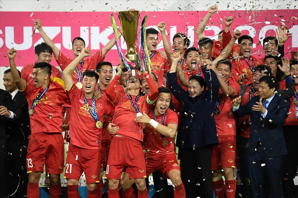 ĐT Việt Nam vô địch AFF Cup 2018 đầy xứng đáng. Ảnh: AFF