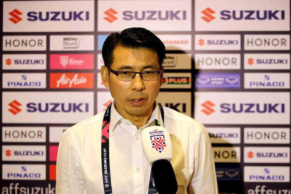 HLV Tan Cheng Hoe đã mang lại nhiều điểm tích cực cho ĐT Malaysia ở giải đấu vừa qua. Ảnh: AFF
