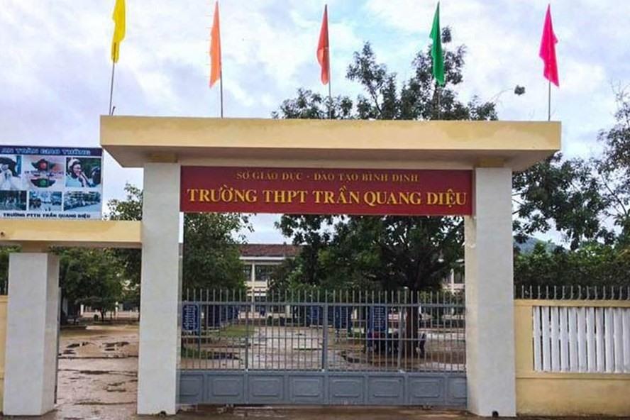 Trường THPT Trần Quang Diệu, nơi xảy ra vụ việc.