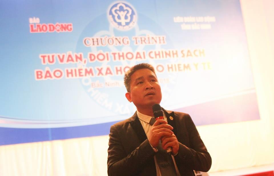 Luật sư Hoàng Ngọc Thanh Bình chia sẻ tại hội trường. Ảnh Trần Vương