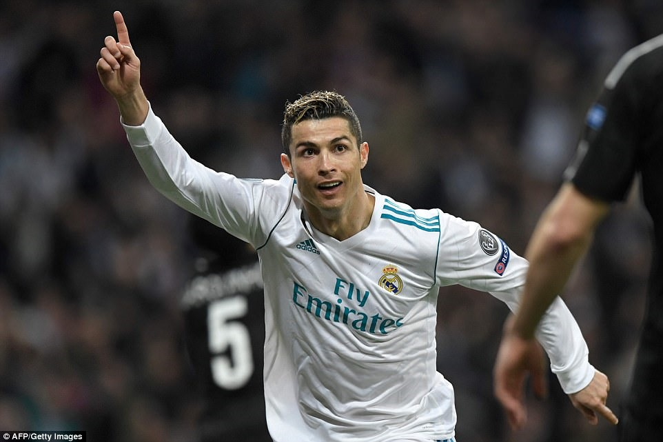 """Ronaldo 100"" ở Champions League. Ảnh: Getty."