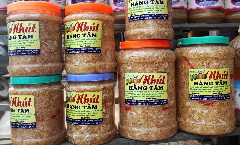 Nhút Thanh Chương, món ăn dân dã xứ Nghệ. Ảnh: QĐ