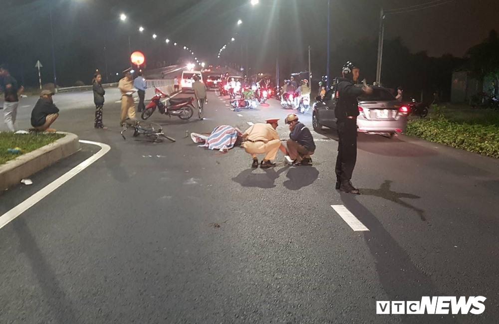Hiện trường vụ tai nạn. (Ảnh VTC NEWS)