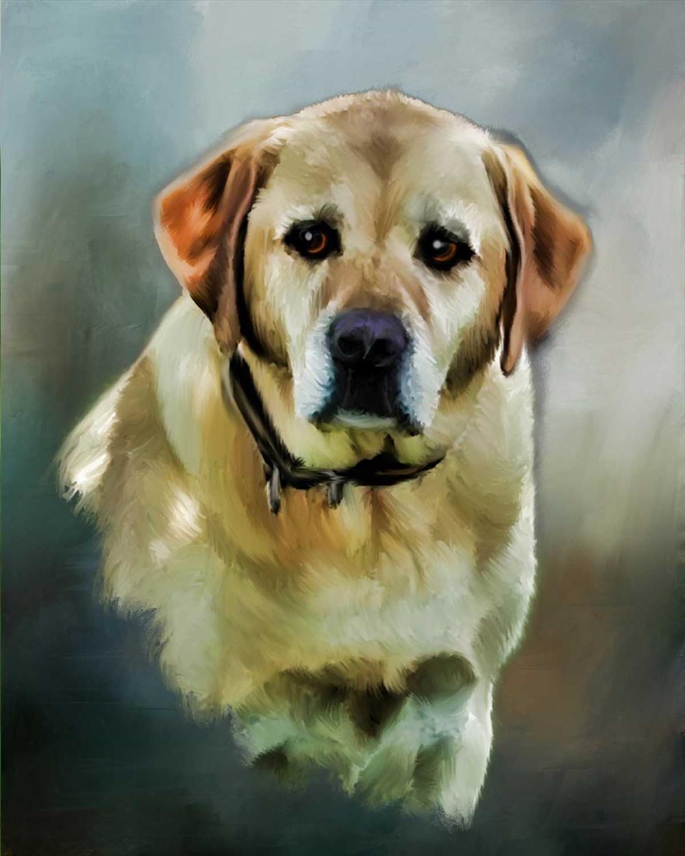Chó luôn được coi là người bạn thủy chung của mọi dân tộc (ảnh nguồn: apaintedpet.com).