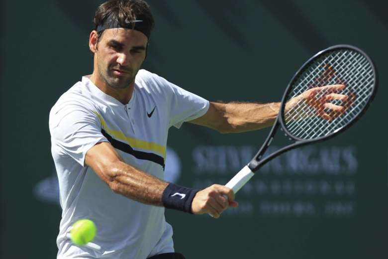 Federer chưa tìm được đối thủ xứng tầm tại Indian Wells 2018. Ảnh: Getty.
