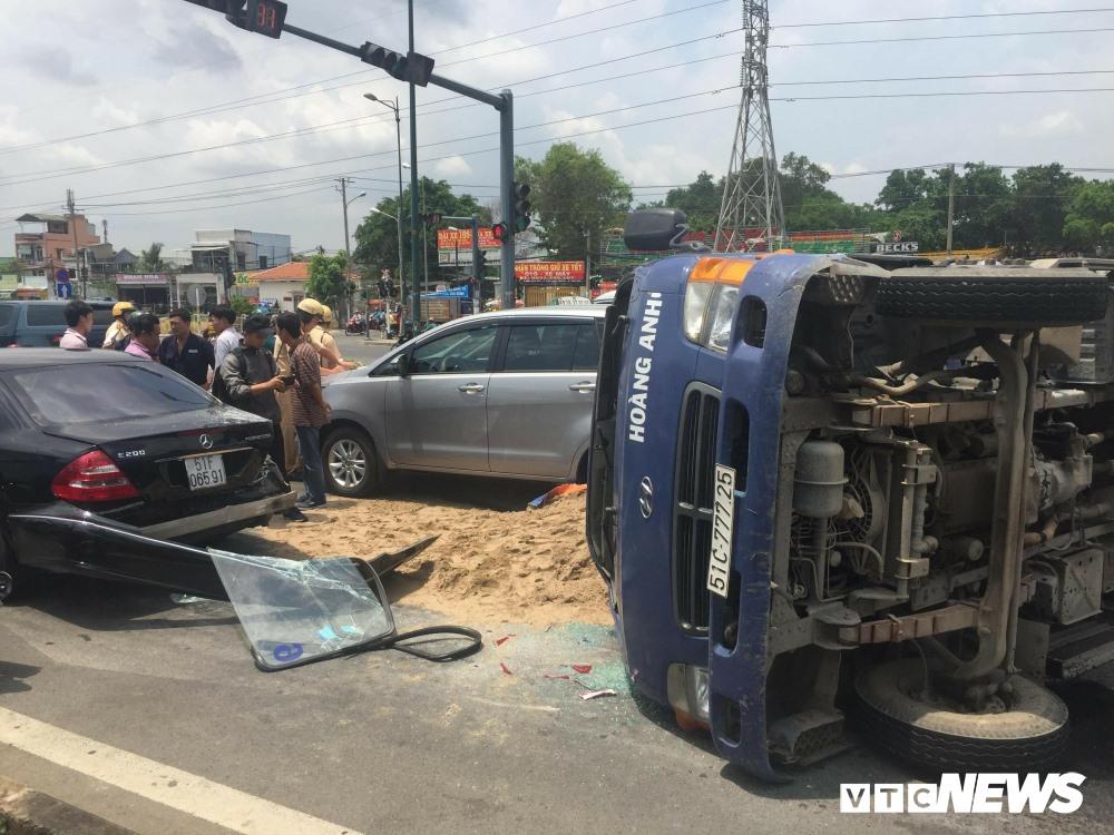 Hiện trường vụ tai nạn.( Ảnh: VTC News)