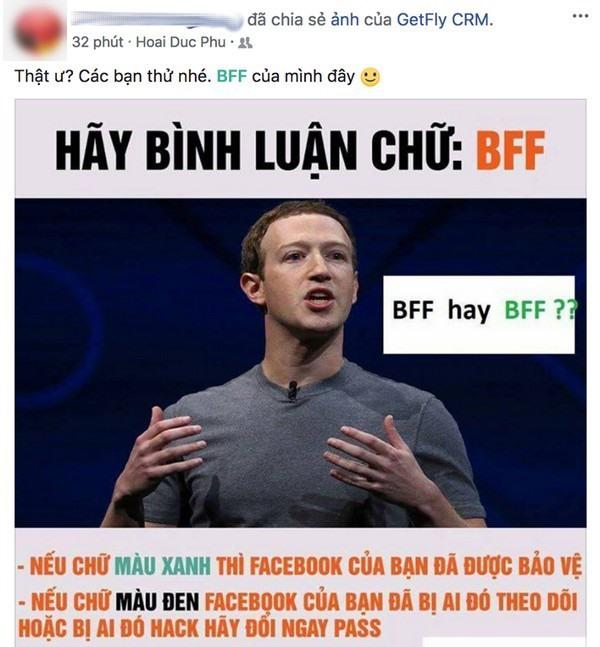 Cách thức để kiểm tra tài khoản Facebook được nhiều người lan truyền trong những ngày gần đây.
