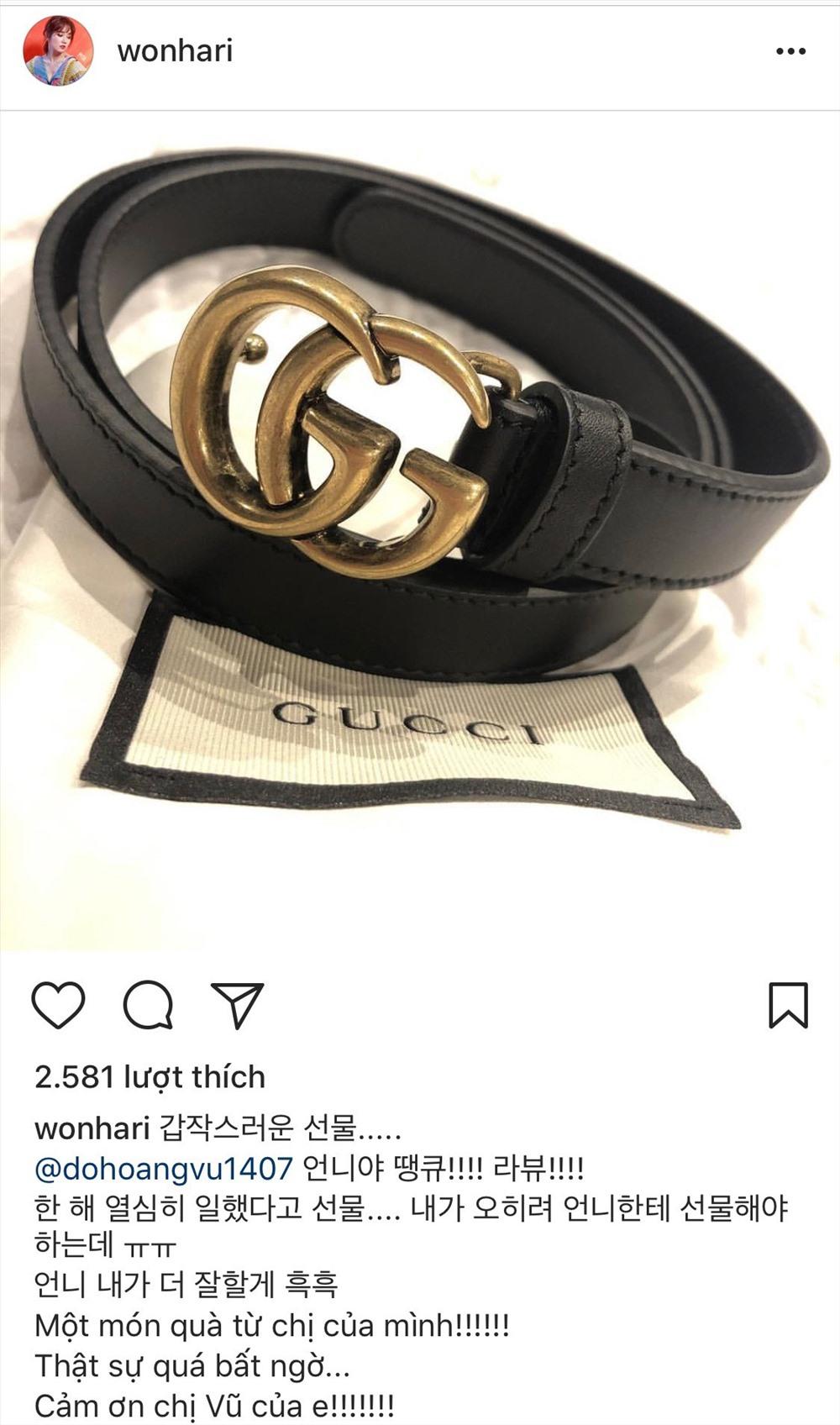 Hari Won khoe món quà tặng từ quản lý