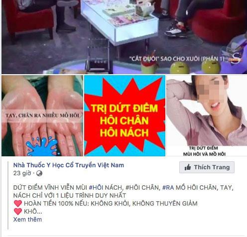 Do chế tài xử phạt còn yếu, những quảng cáo thế này xuất hiện ngày một nhiều trên mạng xã hội.