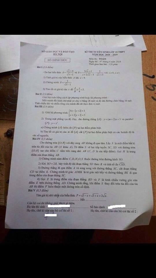 """Vụ lọt đề thi lớp 10 ở Hà Nội: Dù """"lọt"""" hay """"lộ đề thi"""" đều phải bị xử lý nghiêm - Ảnh 2."""
