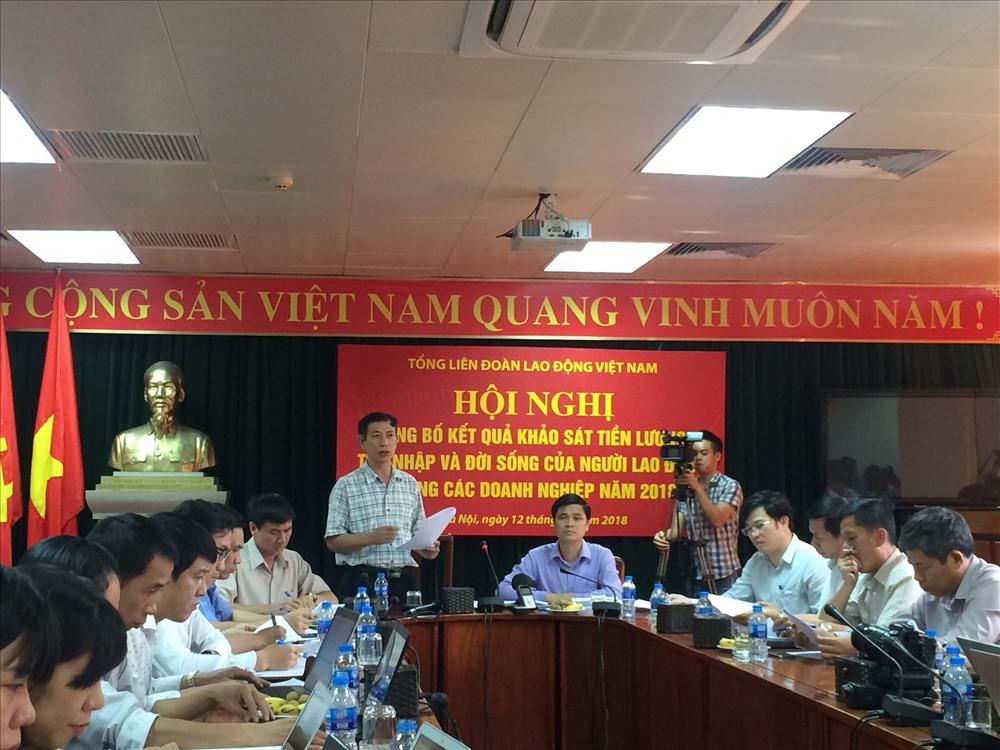 PGS.TS Vũ Quang Thọ,  Viện trưởng Viện CN-CĐ công bố kết quả khảo sát.