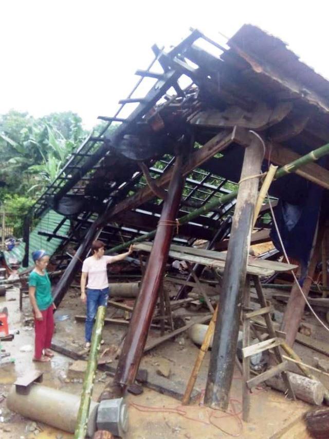 Mưa nhiều đã có thiệt hại về tài sản nhà cửa trước cơn bão số 3 tại Nghệ An