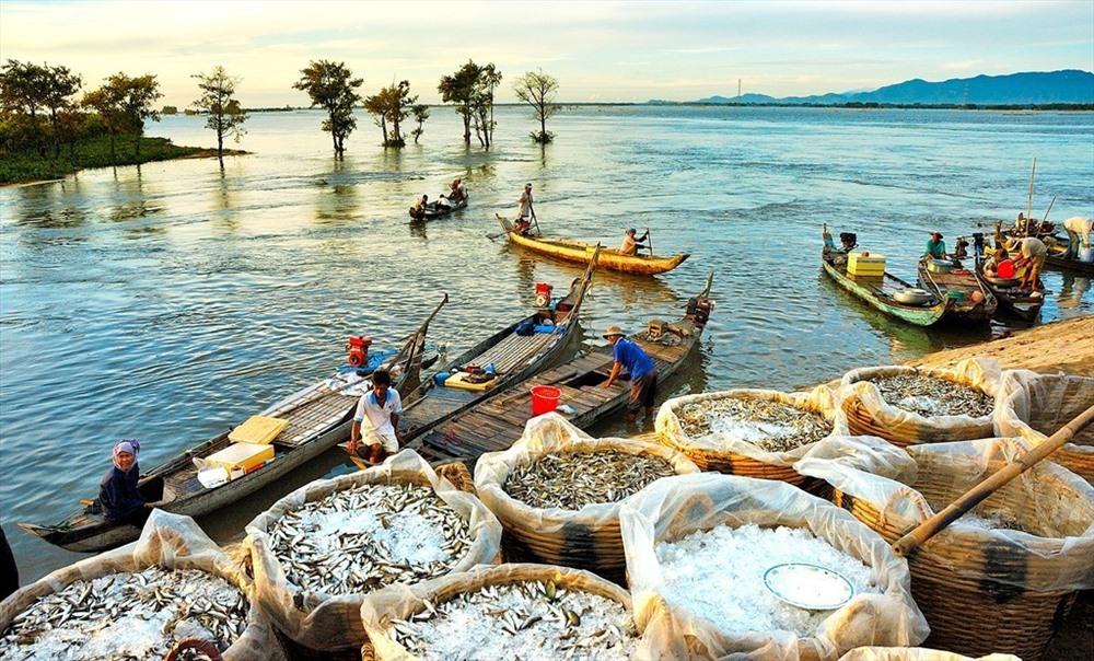 Những đàn cá kéo về cùng nước lũ đã mang đến cho người dân nơi đây một nguồn tài nguyên thủy sản khổng lồ (nguồn ảnh: thanhlamhotspring)