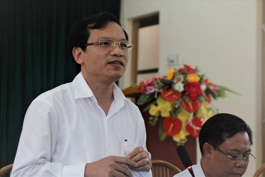 Ông Mai Văn Trinh - Cục trưởng Cục Quản lý chất lượng nêu quan điểm về việc xử lý con cháu lãnh đạo được nâng điểm thi. Ảnh: Văn Phú