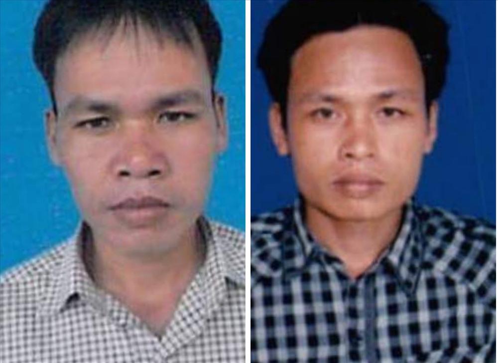Đối tượng Quốc (trái) và Việt (phải) ra đầu thú sau thời gian trốn truy nã. Ảnh: Công an cung cấp