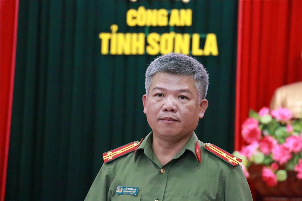 Thượng tá Trần Thanh Sơn thông tin về chuyên án.
