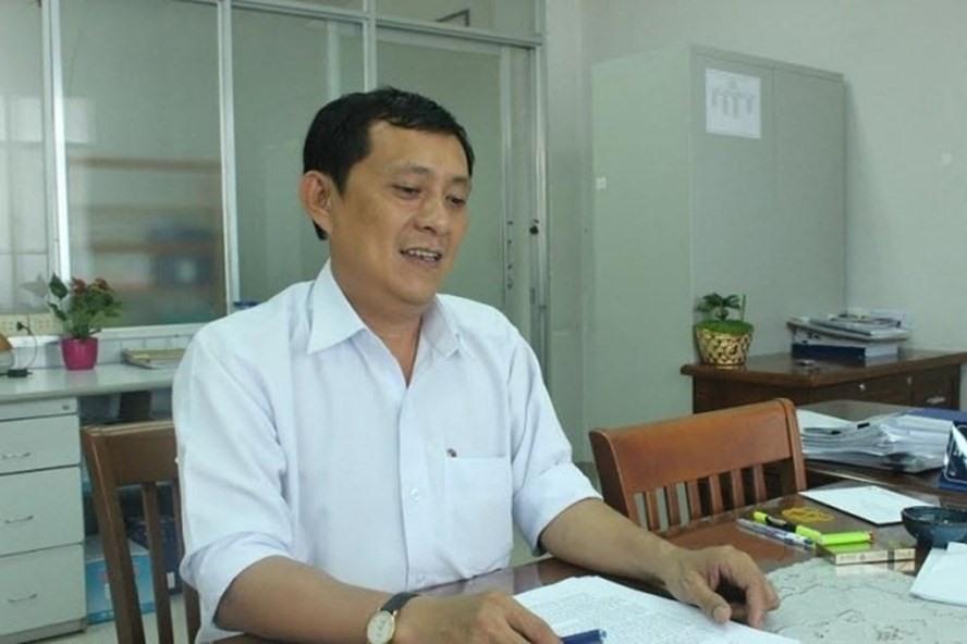 Nguyễn Văn Thiên Đăng lúc còn đương chức Trưởng phòng tài nguyên - môi trường thị xã Dĩ An. Ảnh: H.H