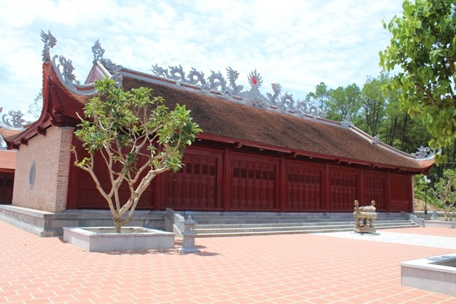 Đền thờ Ngã ba Đồng Lộc vừa khánh thành ngày 15.7.2018. Ảnh: Trần Tuấn