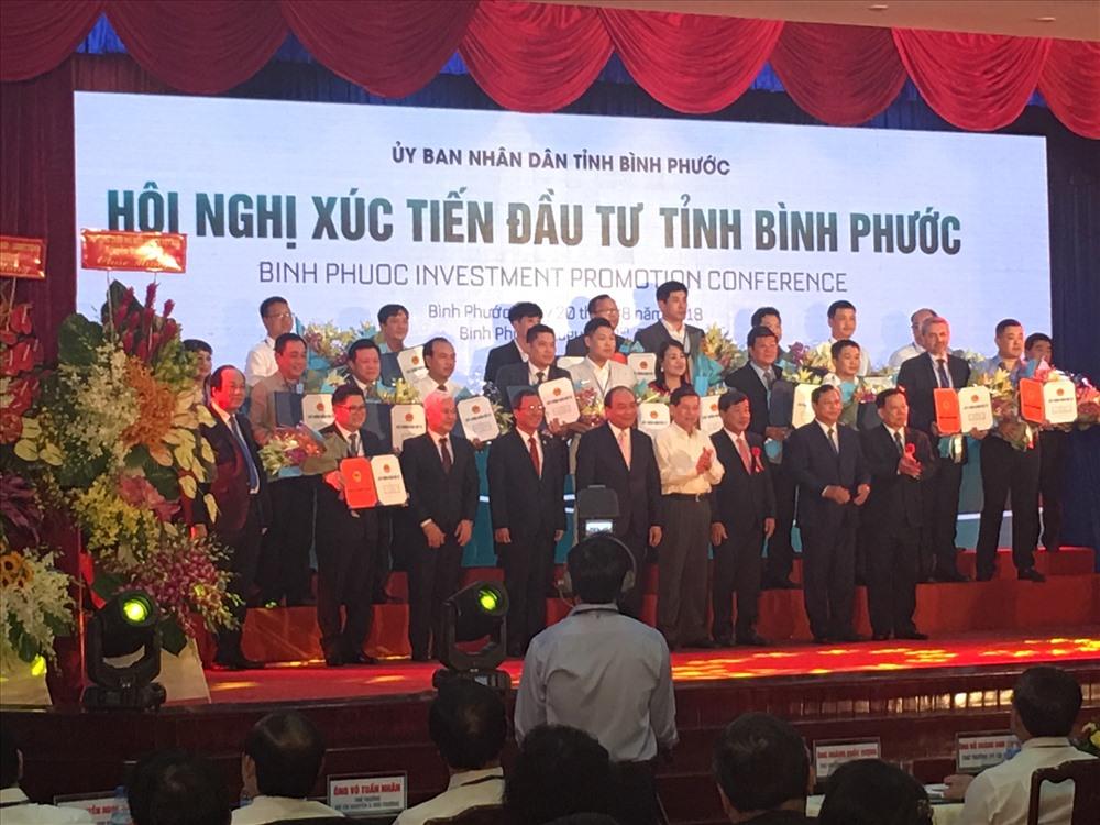 Có 19 doanh nghiệp đã đăng ký đầu tư vào tỉnh Bình Phước trong dịp này. Ảnh: C.H