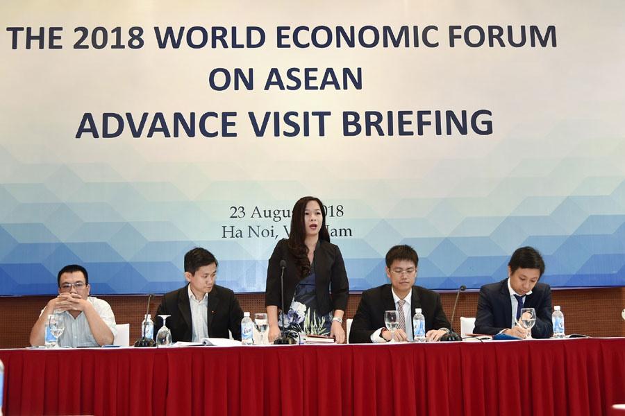 Việt Nam đón các đoàn tiền trạm WEF ASEAN 2018. Ảnh: BNG