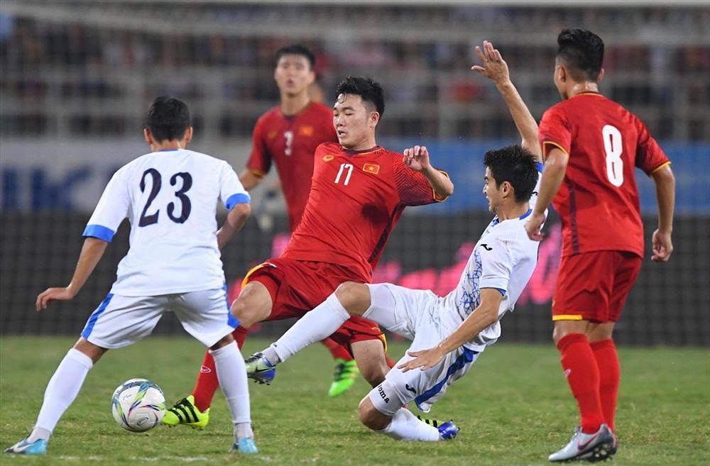 U23 Việt nam gặp nhiều khó khăn trước lối chơi của U23 Uzbekistan.