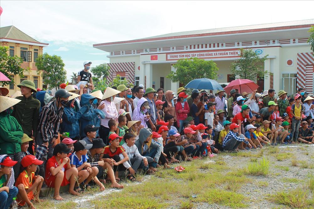 Giải đấu đã thu hút không chỉ người dân xã Thuần Thiện mà còn thu hút người dân các xã vùng lân cận đến xem và cổ vũ