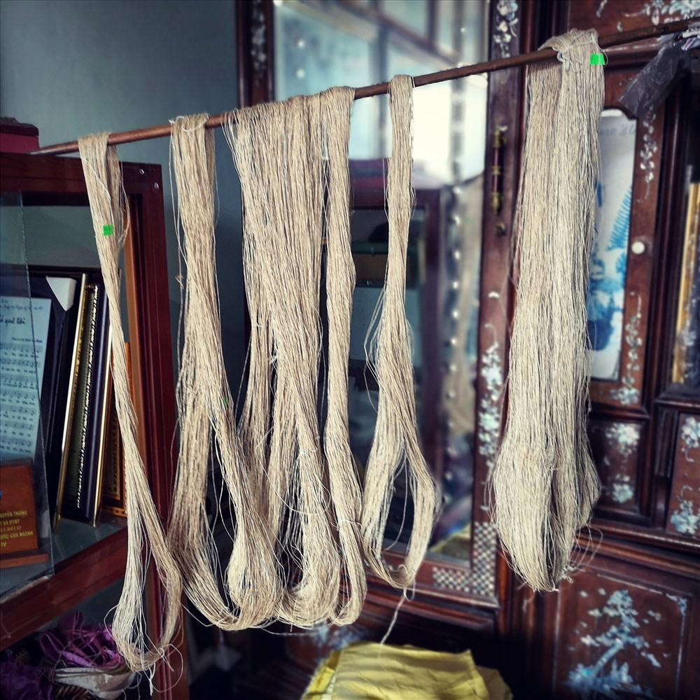 Những sợi tơ sen thành phẩm.