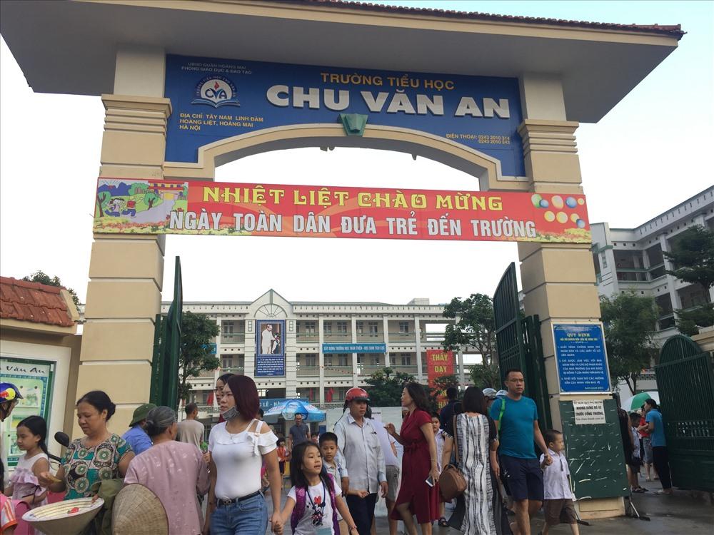 Trường Tiểu học Chu Văn An đưa môn Tiếng Anh Bình Minh liên kết vào giờ học chính khóa. Ảnh: Nguyễn Hà